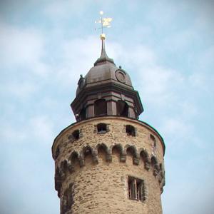 Reichenbacher Turm, Blick auf die Turmspitze